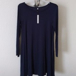 So soft!!! Navy blue dress